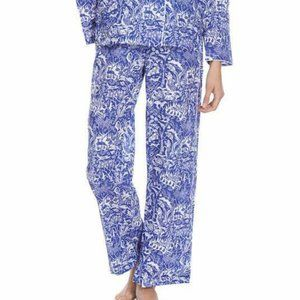 DEREK ROSE Cotton Modern Jungle Pajama Lounge Pant
